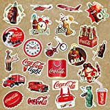 WWLL 50 Coca-Cola Sticker suitcases European and American Retro Travel Lever Boxes Stickers Waterproof Computer Helmet Stickers