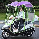 WYB Capota para Motocicleta eléctrica, Paraguas para Scooter Completamente Cerrado, Parasol y Cubierta para la Lluvia extraíbles y Cortinas Laterales extraíbles,A