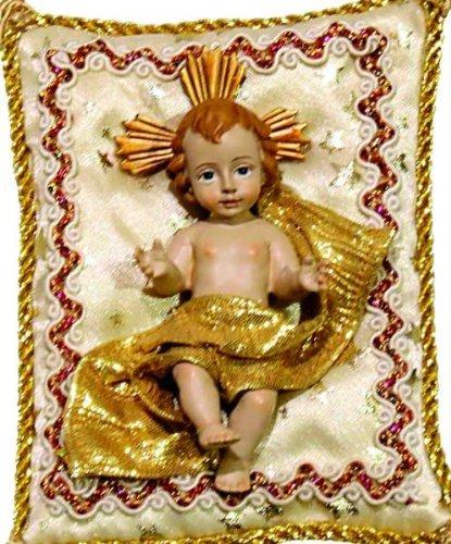 Niño Jesús sobre Cojín Crema, 10cmx8cm