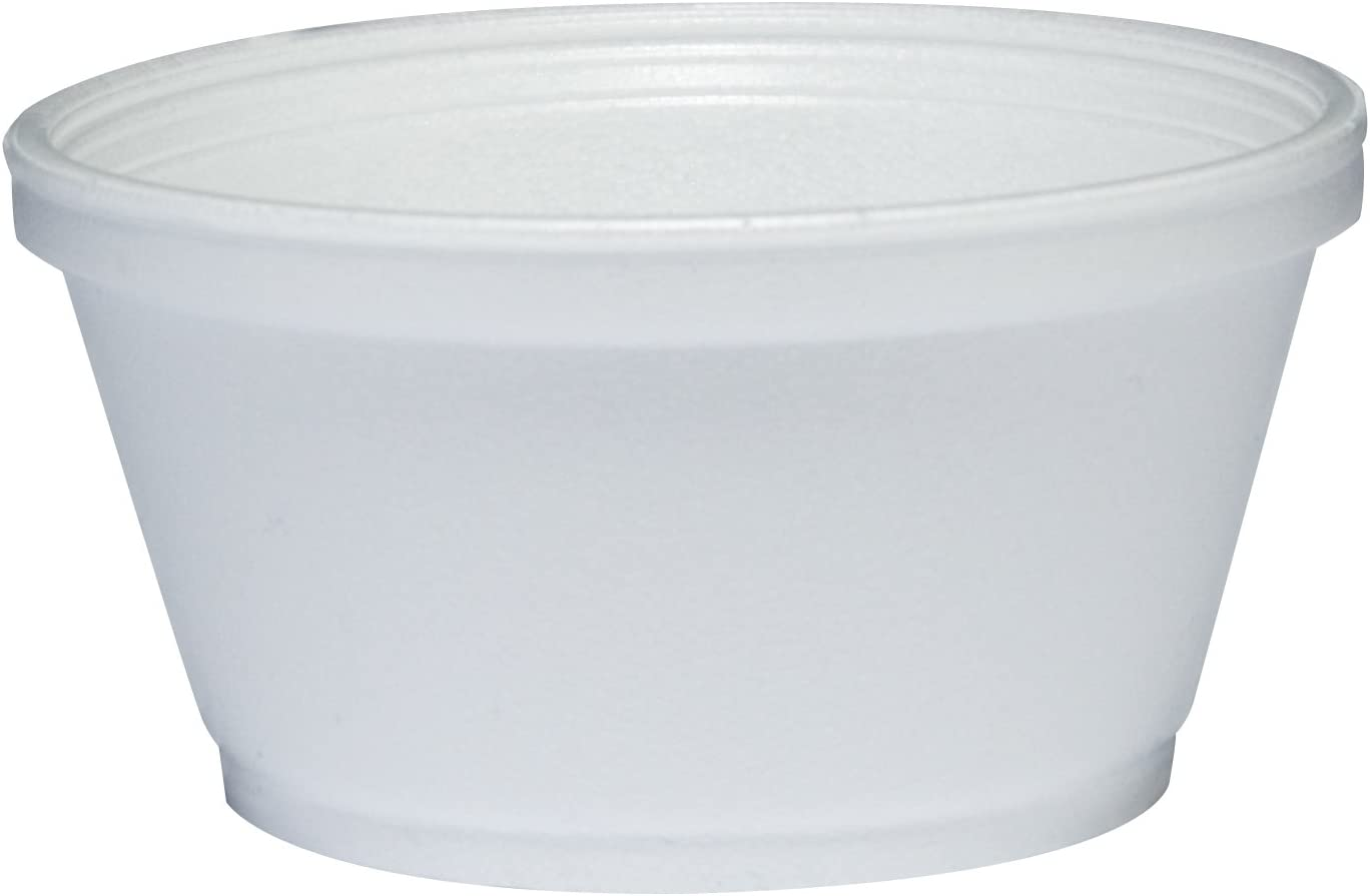 Dart 8SJ20 Foam Container 8oz 1000 White Case Many Inventory cleanup selling sale popular brands of
