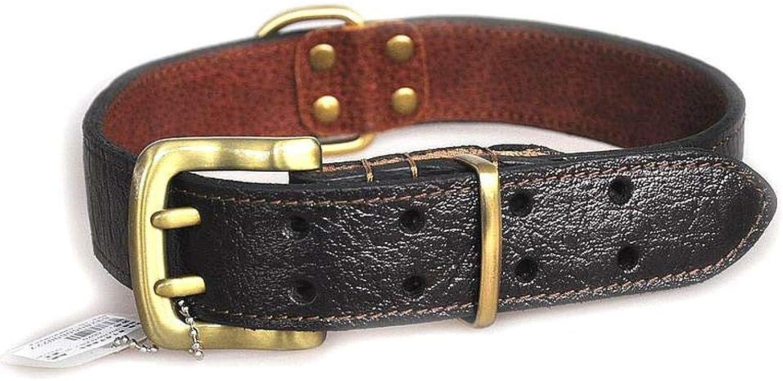 Dixinla Pet collar colorName Cowhide Neck Sleeve Large dog, 4656cm3cm