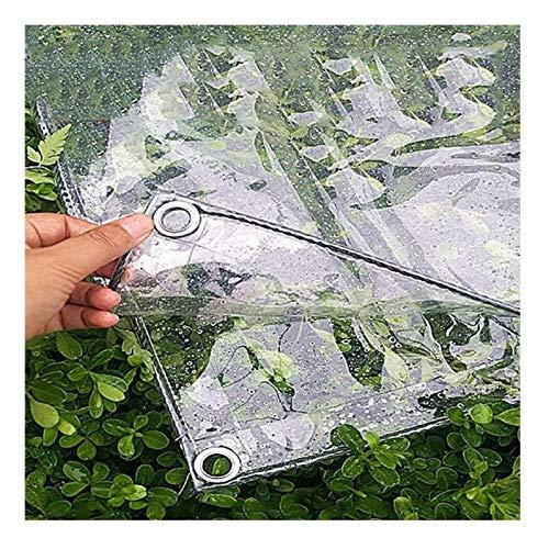N\A ZHANGQINGXIU Lonas Impermeables Exterior,Lona Impermeable Transparente con Orificios En Ángulo Cubierta De Polietileno Reforzado con Goma para Cenador, 41 Tamaños (Color : Clear, Size : 2.4x6m)