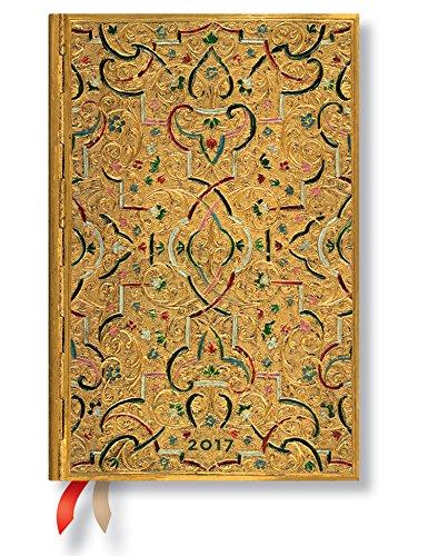 Paperblanks Goldeinlage - Kalender 2017 Mini Wochenüberblick Horizontal deutschsprachige Ausgabe (2017 Diaries)