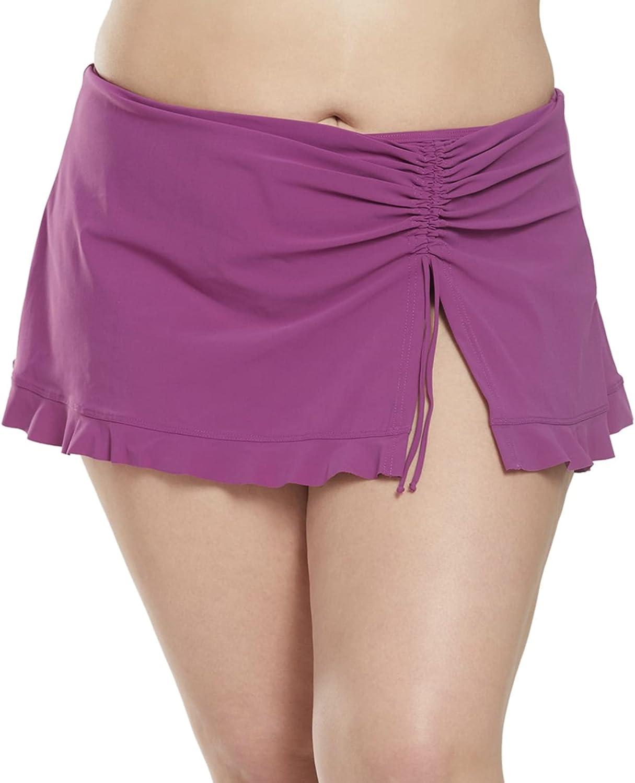 Profile by Gottex Women's Plus-Size Classic Side Tie Skirted Swimsuit Bottom, Tutti Frutti Plum, 24W