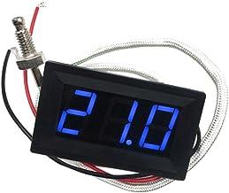 DC 12V Digital LED Controlador De Temperatura Termostato Sonda De Interruptor De Control - Azul