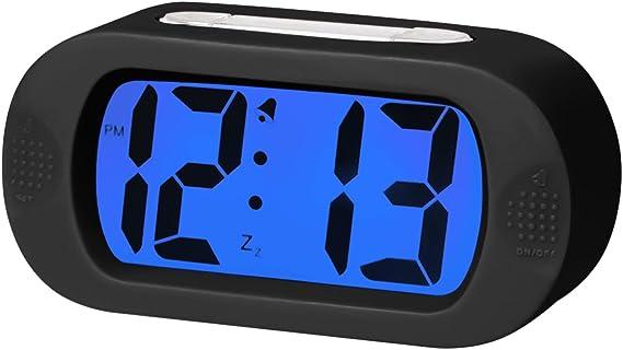EASEHOME Reloj Despertador Digital de Silicona, Relojes