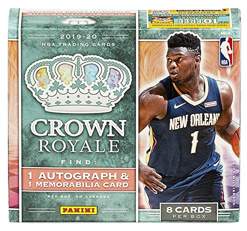 2019/20 Panini Crown Royale NBA Basketball HOBBY box (8 cards)