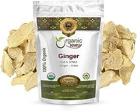 Organic Way Premium Dried Ginger Root Cut & Sifted (Zingiber officinale) - Organic & Kosher Certified | Raw, Vegan, Non GM...