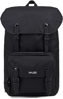 KALIDI 17 Zoll Laptop Backpack Großer Rucksack Wanderrucksack bis zu 15.6 Zoll Laptop Notebook Arbeit Campus Studenten Outdoor Reisen Wandern schwarz