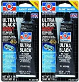 Permatex 82180 Ultra Black Maximum Oil Resistance RTV Silicone Gasket Maker, 3.35 oz. Tube, 2 Pack