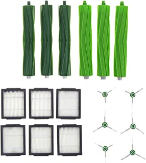 Luckgo 18Pcs Side Brush And Filter And Roller Brushes For Vacuum Cleaner Irobot E5 E6 I7