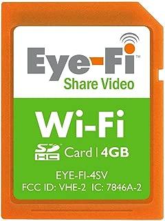 Eye-Fi 4GB Share Video SDHC Wireless Flash Memory Card EYE-FI-4SV
