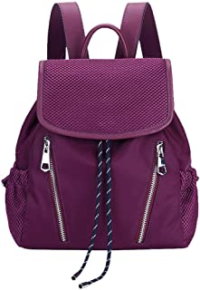 North face Backpack Backpack Female Nylon Cloth Sleek Minimalist Lightweight Large Capacity Travel Youth Casual Backpack The North face Backpack (Color : Purple)