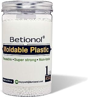 Betionol Plastique Moulable pour la Sculpture de Modèles, Perles Thermoplastiques d'argile à Modeler Blanche de 453g, pas ...