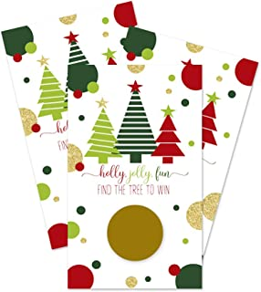 Christmas Party Scratch Off Games (30 Cards) Jolly Holiday Trees
