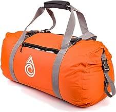 AquaQuest Slipstream Waterproof Duffel - 50L Nylon Dry Bag Duffel - Lightweight Travel Bag for all Water Activities - Orange