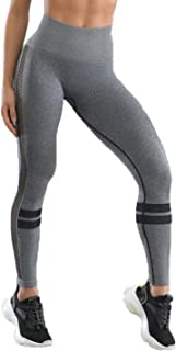 Dawwoti Yoga Tights for Women Full-Length Active Pants Tummy Compression Running Pants