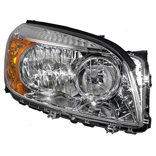 Brock Replacement Passengers Headlight Headlamp with Chrome Bezel Compatible with 2006-2008 Rav4 SUV 8113042331