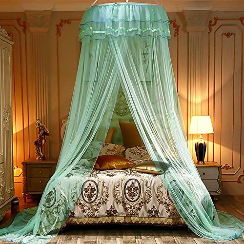 Mosquitera cama,Dosel de la cama,Estructura dosel cama matrimonio,con Diseño de Cúpula y Mosquitera de Fácil,para Cama Individual o Matrimonio Anti mosquitos para el Hogar o de Vacaciones