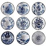 SBDLXY 9 Pezzi Kungfu Sake Tazze da tè in Ceramica Bicchieri Classici in Ceramica Tazze da tè Colore Misto Regalo Artigianale Tradizionale