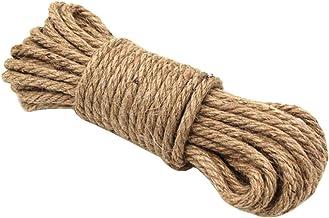 Railonch 10 m natuurlijk jute touw, henneptouw, campingtouw, tuin, boottouw, touwtrekken, huisdieren, klimtouw, multifunct...
