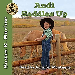 Andi Saddles Up audiobook cover art