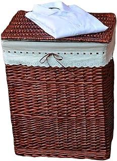 ZTMN Panier de Rangement Vêtements Panier de Rangement Dressing Chambre Rotin Bleu Lessive Ménage Simple (Couleur: Marron,...