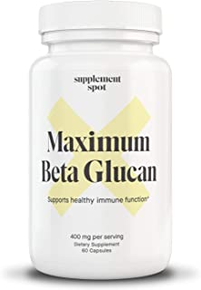 Maximum Beta-Glucan Supplement (60 Capsules – 400mg Per Serving) Beta Glucan 1 3D Glucan Immune Support Supplement – Ultra...