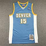Movement Ropa Jerseys de Baloncesto de los Hombres, NBA Denver Nuggets # 15 Carmelo Anthony, Chaleco Transpirable Suelto Uniformes Classic Comfort Camiseta sin Mangas Tops(Size:S/,Color:G1)