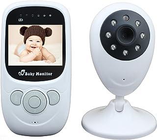 HBLIFE ベビーモニター ベビーカメラ コンパクト 遠隔監視カメラ 双方向音声LED/子守唄ナイトビジョン 防災 防犯り ボイスセンサー搭載 介護 赤ちゃん 出産祝い 見守りカメラ 日本語説明書付き 【24ヶ月保証】