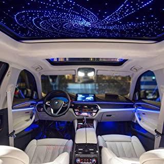 Ninth-Mart LED Fiber Optic Star Ceiling Light Kit for Car or Room, 16W RGBW Music Mode Sound Sensor, 28 Keys Remote Controller, Mixed 360PCS, 0.03in+0.04in+0.06in, 9.8ft Long