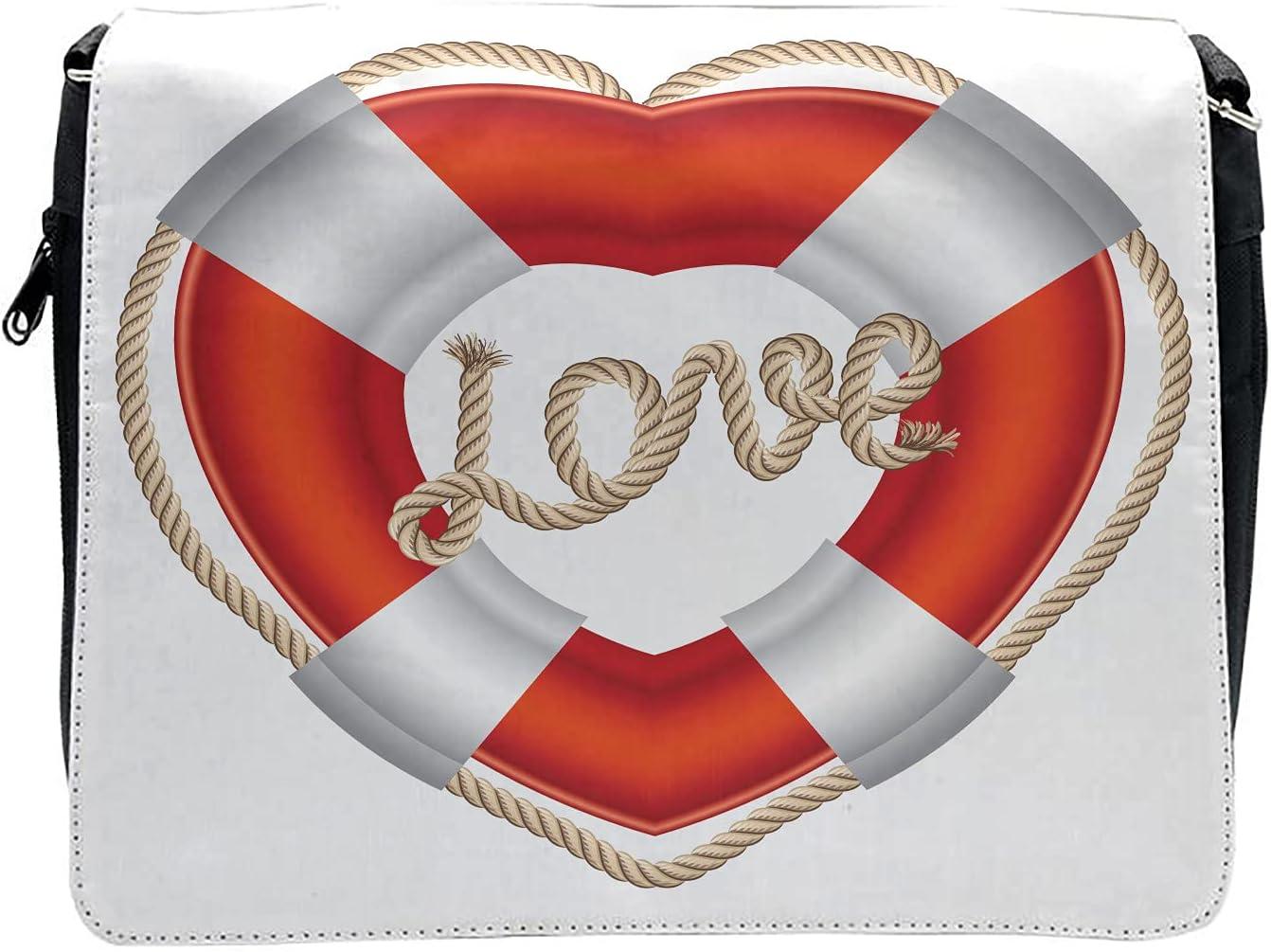 Ambesonne Romantic Cross Body Messenger Bag, Valentine Love Hearts, Unisex