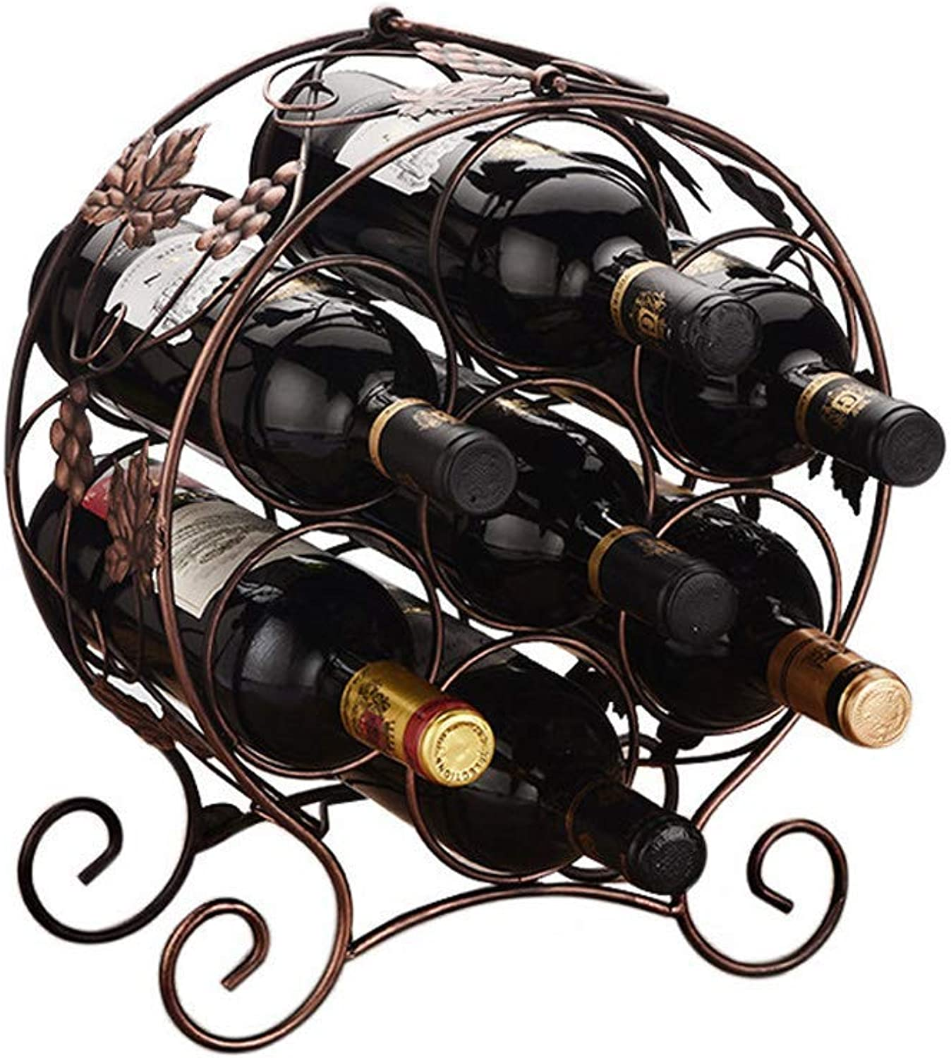 Wine Bottle Holder Metal,Stainless Steel Wine Holder,Stackable Metal Wine Racks,Free Standing, Horizontal, greenical (color   -, Size   -)