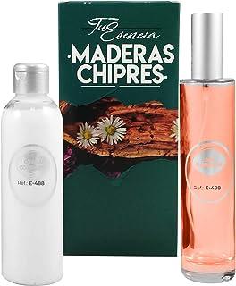Pack Tu Esencia Amaderada Esenssi • Perfume E-488 Narcis Red 100 ml + Crema Corporal Perfumada E-488 200 ml • Acordes simi...