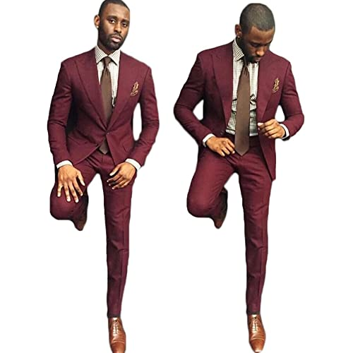 Mens Burgundy Suits Amazoncom