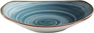 Corona Ensaladera, Porcelana, Azul, 28x25x5 cm
