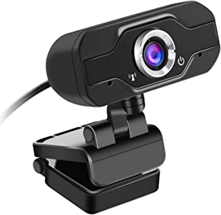 Webcam, HD fixed focus 1080p camera computer webcam USB2.0 plug and play with built-in microphone. Used for conference, we...