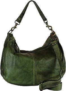 BZNA Bag Sia verde Grün green Italy Designer Damen Handtasche Schultertasche Tasche Schafsleder Shopper Neu