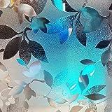 LMKJ Película de Vidrio estático PVC 3D Hoja Protección de privacidad Decoración del hogar Anti-UV Esmerilado Etiqueta de Ventana extraíble A82 50x200cm
