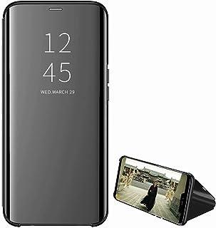 جراب بحامل مرآة لهاتف Samsung Galaxy A32 4G، جراب محفظة واقٍ من الجلد بمسند كامل الجسم من Miagon لهاتف Samsung Galaxy A32 4G