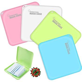 4PCS Boîtes de Rangement de Masque Portables en Plastique avec Couvercles, boîte de Rangement pour Masque Anti-poussière pour Masque de prévention,Rangement pour Masque Portable,Antibactérien