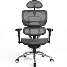 Office Chairs, 90°-140° Computer Ergonomic Chair Office with Headrest and Drying Rack, Adjustable Swivel Office Essentials...
