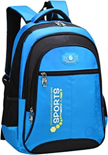 SellerFun Unisex Child Girl Boy Nylon Lightweight Primary Junior School Bookbag Hiking Backpack(Blue,18L)