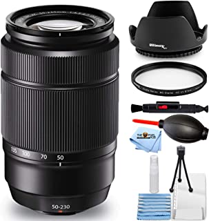 Fujifilm XC 50-230mm f/4.5-6.7 OIS II Lens (Black) 16460771 - Essential Bundle Includes: Tulip Hood Lens, UV Filter, Clean...