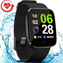 FITVII E-Pro Smart Watch, Fitness Tracker with Multifunctional Sport Mode, Heart Rate&Blood Pressure Monitor with SpO2 and Sleep Tracker, Waterproof Color Screen Activity Health Tracker for Women Men