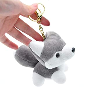 Smilesky Plush Husky Dog Stuffed Animal Keychain Toys Puppy Ornaments Pendant 4