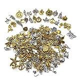 Nsiwem 200 piezas colgantes para bisutería accesorios de joyería colgantes tibetanos del encanto retro colgantes diy joyería que hace fuentes para joyería de bricolaje pulseras collares