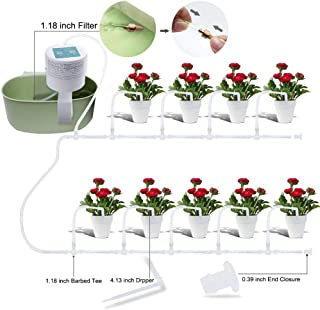 Elitlife Automatic Drip Irrigation Kit, Self Watering System, Vacation Plant Watering, Watering Can, 15-Day Watering Time&Watering Interval Time Setting, for Indoor Garden/Potted Plants-Simultaneousl