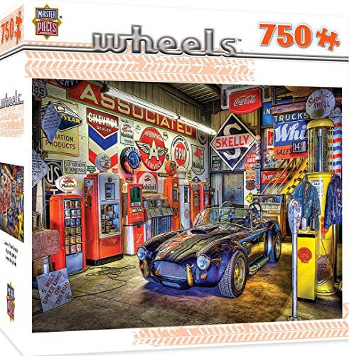 MasterPieces Jigsaw Puzzle: 750-Pc Wheels Jewel of the Garage Puzzle $7.97, 1000-Pc High Performance World's Smallest Puzzle w/ Collectable Box $9.97 + Free S/H w/ Prime or on $25+