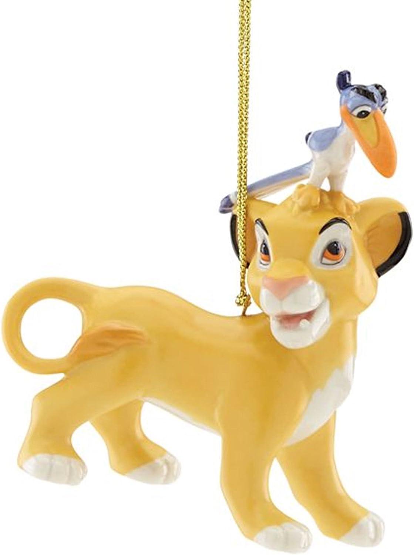 Lenox Disney The Lion King Ornament Cub At the price of surprise Horn Simba Albuquerque Mall Figurine Zazu